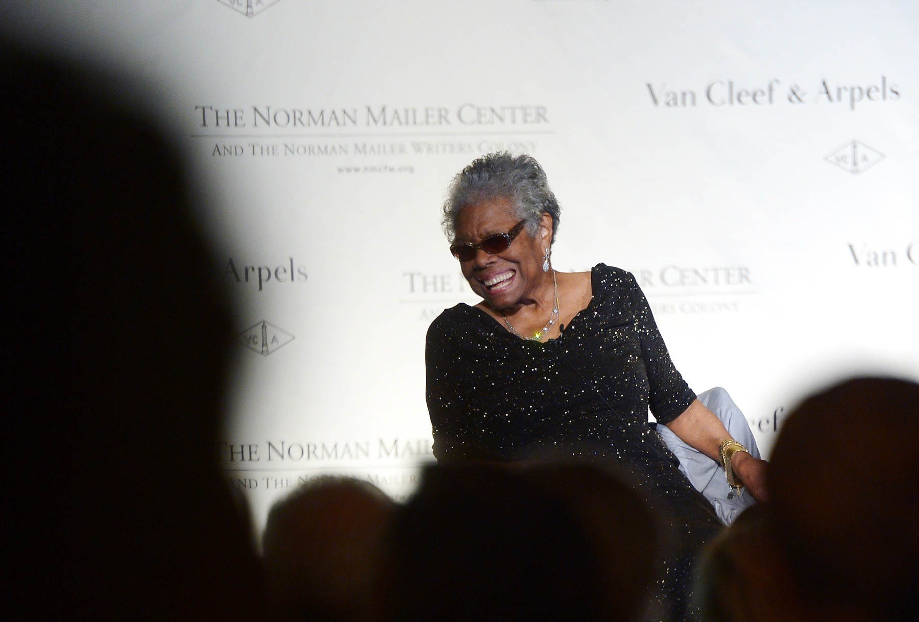Maya Angelou attends the Norman Mailer Center's fifth annual benefit gala at the New York Public Library on Oct. 17, 2013, in New York City.