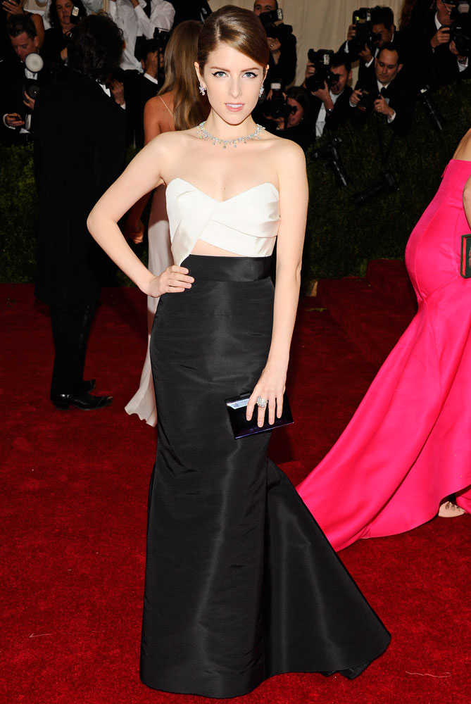 Anna Kendrick attends The Metropolitan Museum of Art's Costume Institute benefit gala celebrating  Charles James: Beyond Fashion  on May 5, 2014, in New York City.