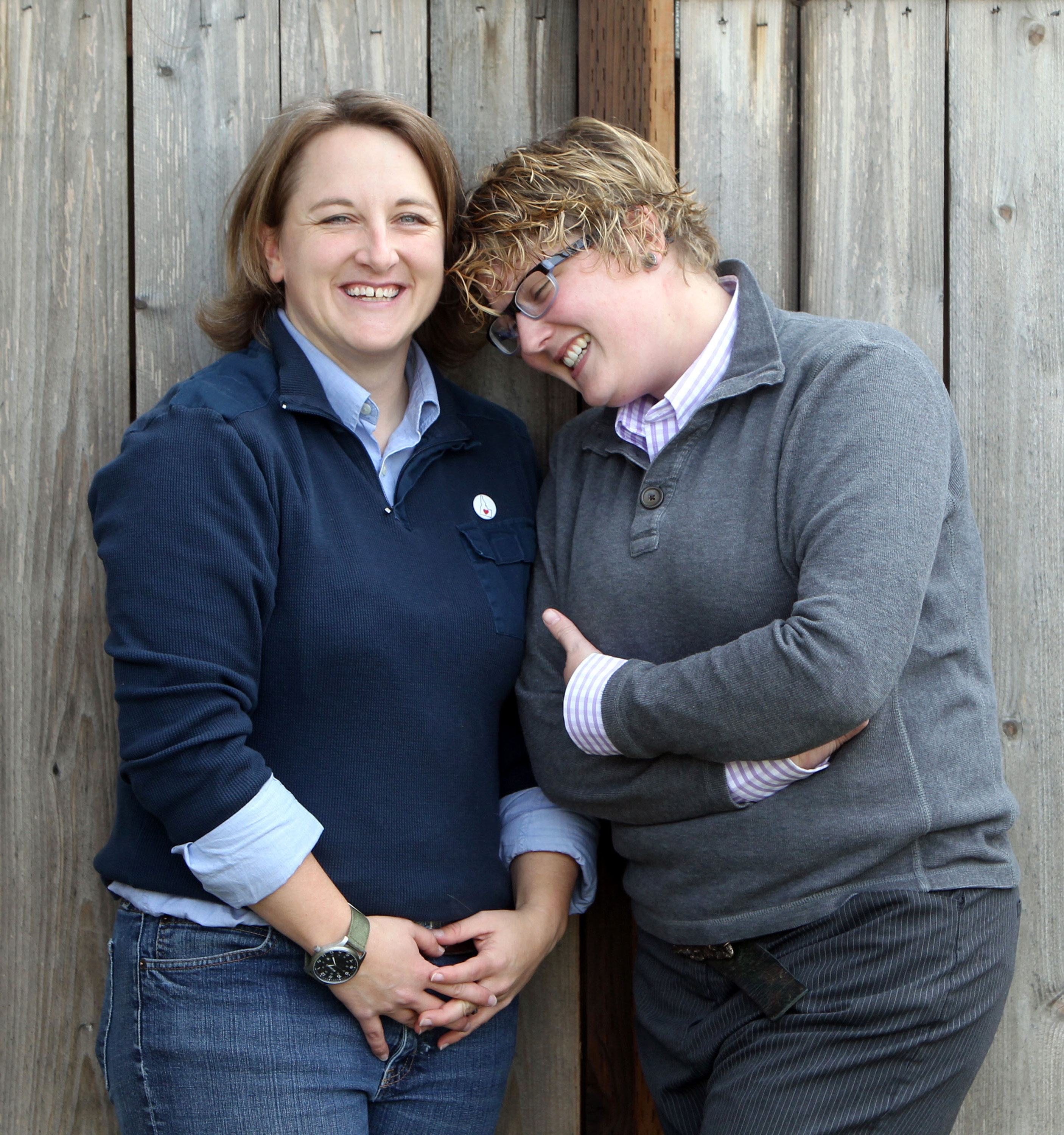 Amber Beierle, left, and Rachael Robertson, photographed on Nov. 8, 2013, are one of the four couples who challenged Idaho's ban on same-sex marriages