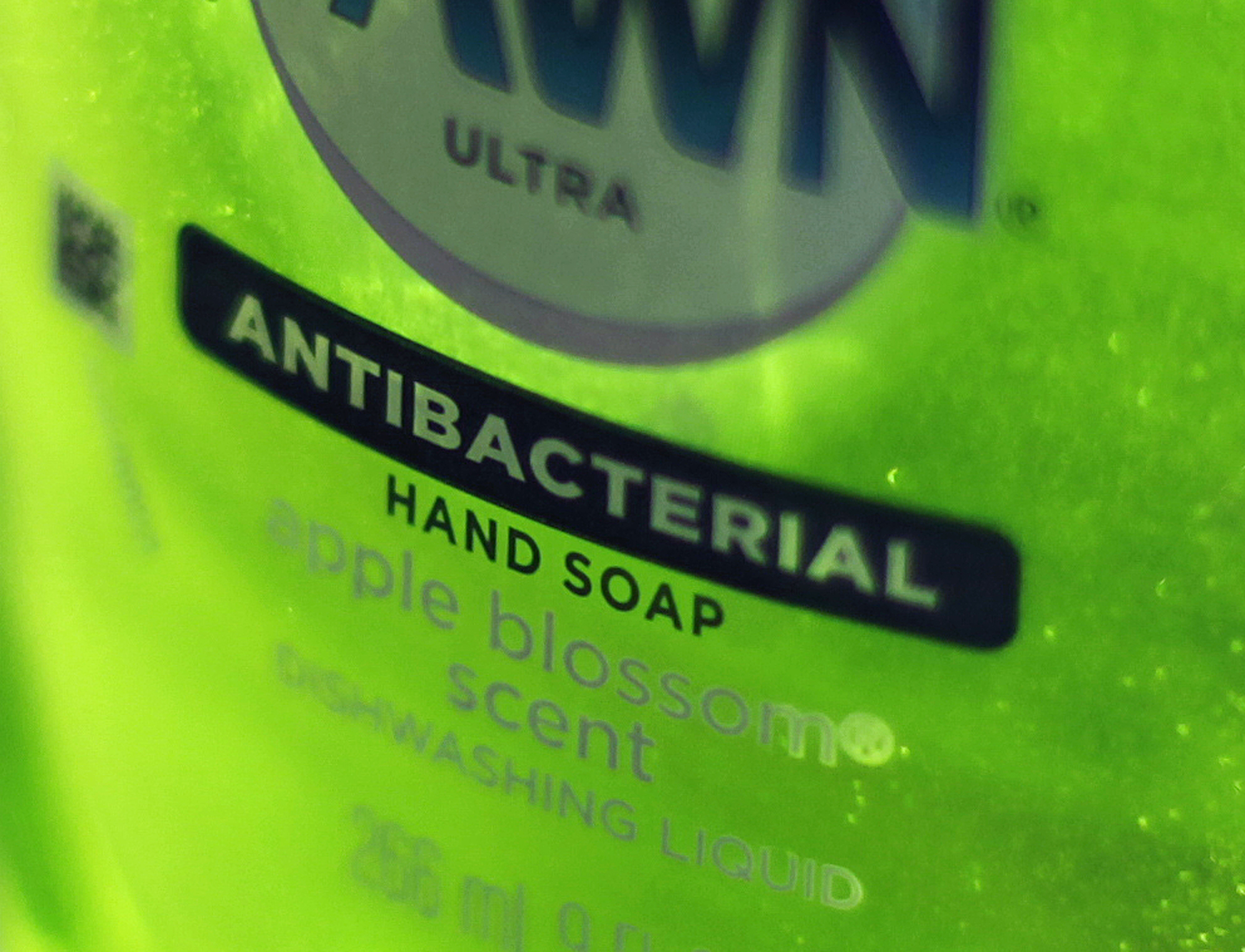 This April 30, 2013, photo shows Dawn Ultra antibacterial soap in a kitchen in Chicago