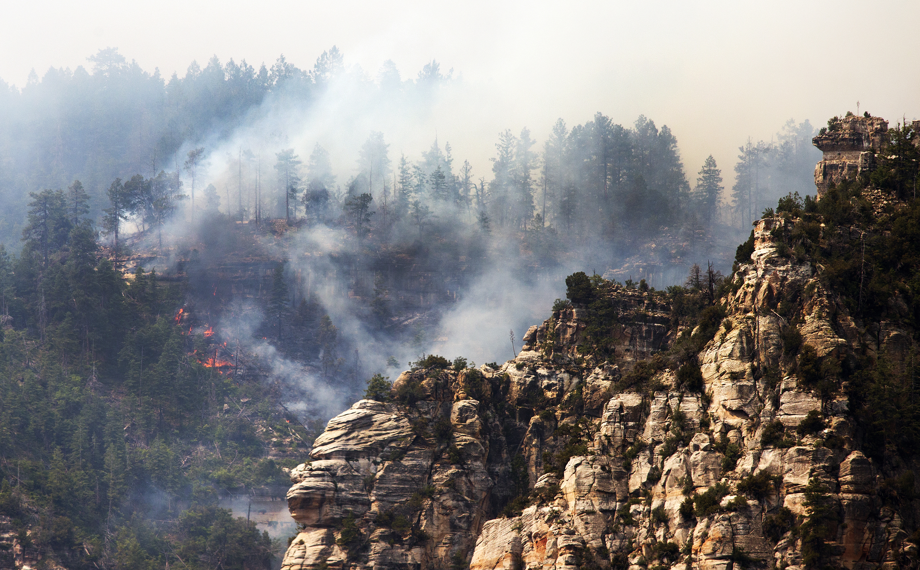 The Slide Fire burns near 89 A south of Flagstaff, Arizona on May 21, 2014.