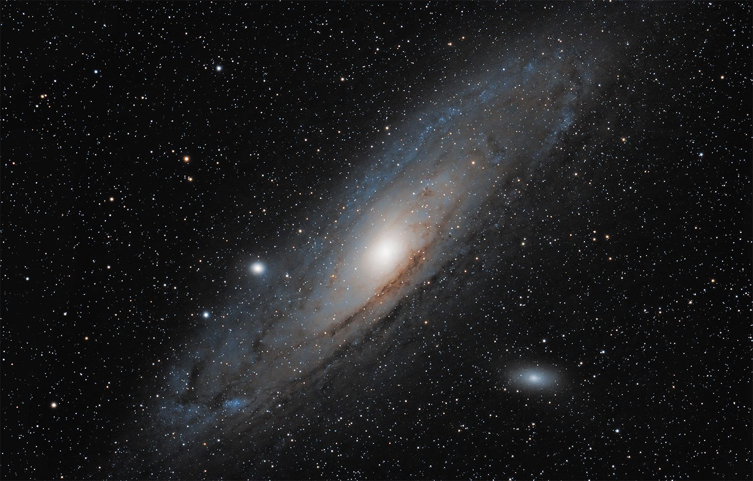 Andromeda Galaxy (M31), imaged from Fayetteville, Ark., on Jan. 19, 2014,