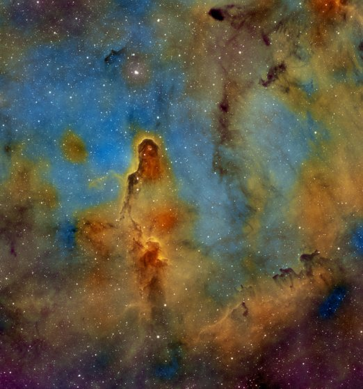 The Elephant's Trunk Nebula, also known as IC 1396, on April 14, 2014.