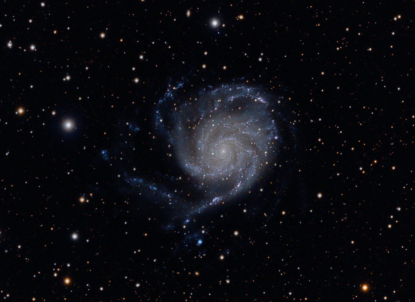 The Pinwheel Galaxy, also known as Messier 101, M101 or NGC 5457, taken at the Winter Star Party in the Florida Keys on March 1, 2014.
