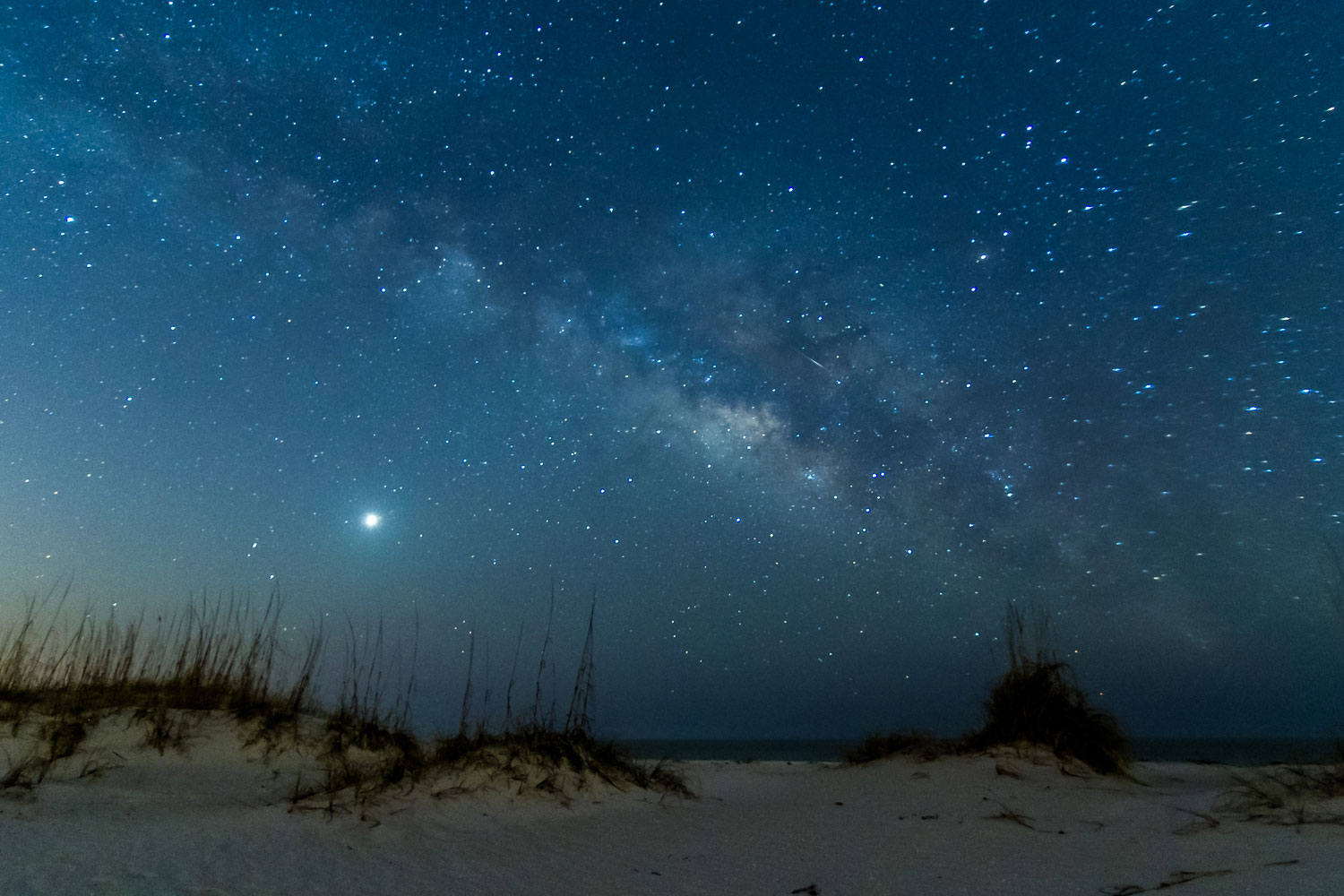 The Milky Way with Venus rising at Pensacola Beach in Pensacola, Fla., on March 2, 2014.