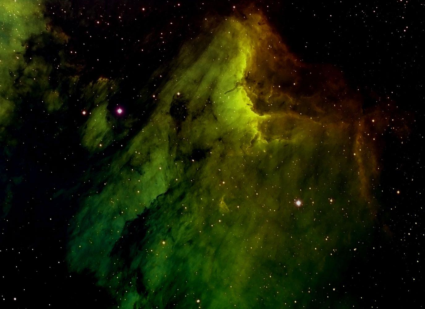 Pelican Nebula, taken from Waukesha, Wisc., on Jan. 9, 2014.
