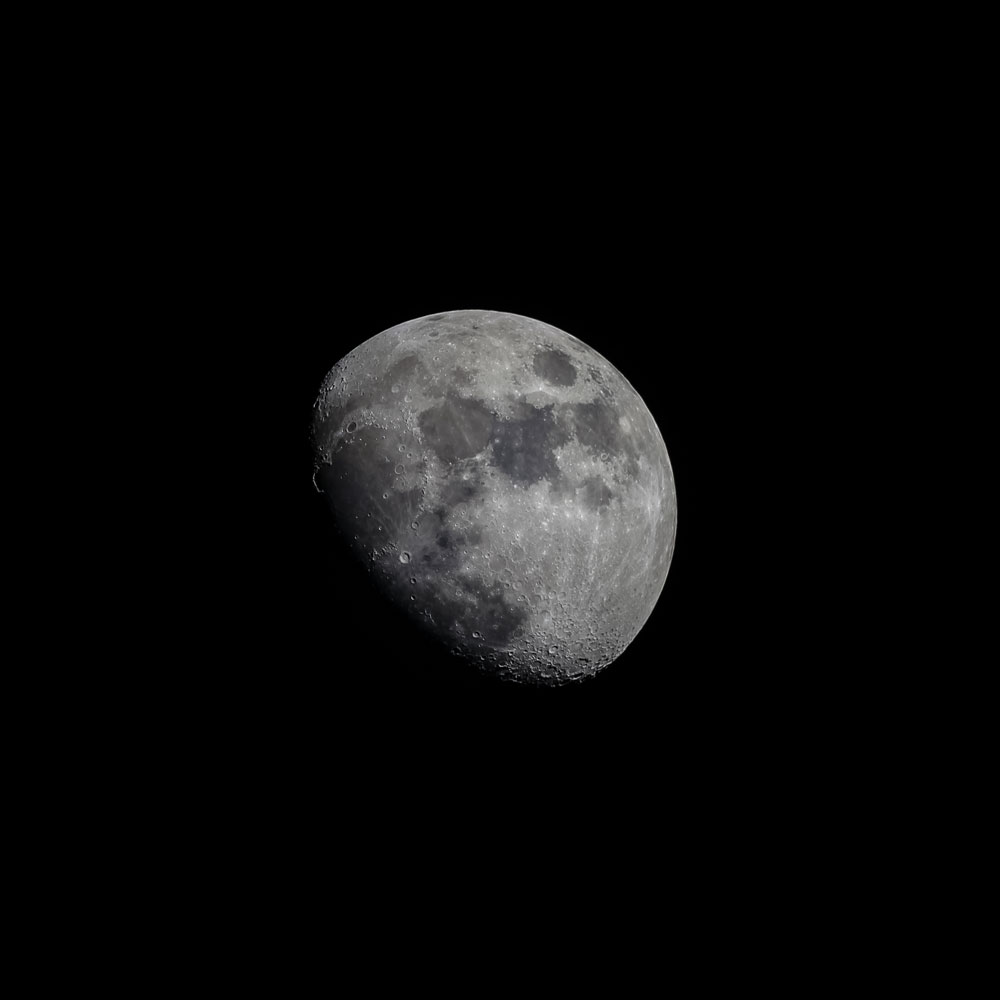 Waxing Moon over Winter Garden, Fla., on  Feb. 10, 2014