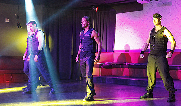 A male exotic revue greets the Bachelorette group with a racy performance that leaves everyone stunned. Andi reveals that this date is a special event for the charity Bachelor Gives Back