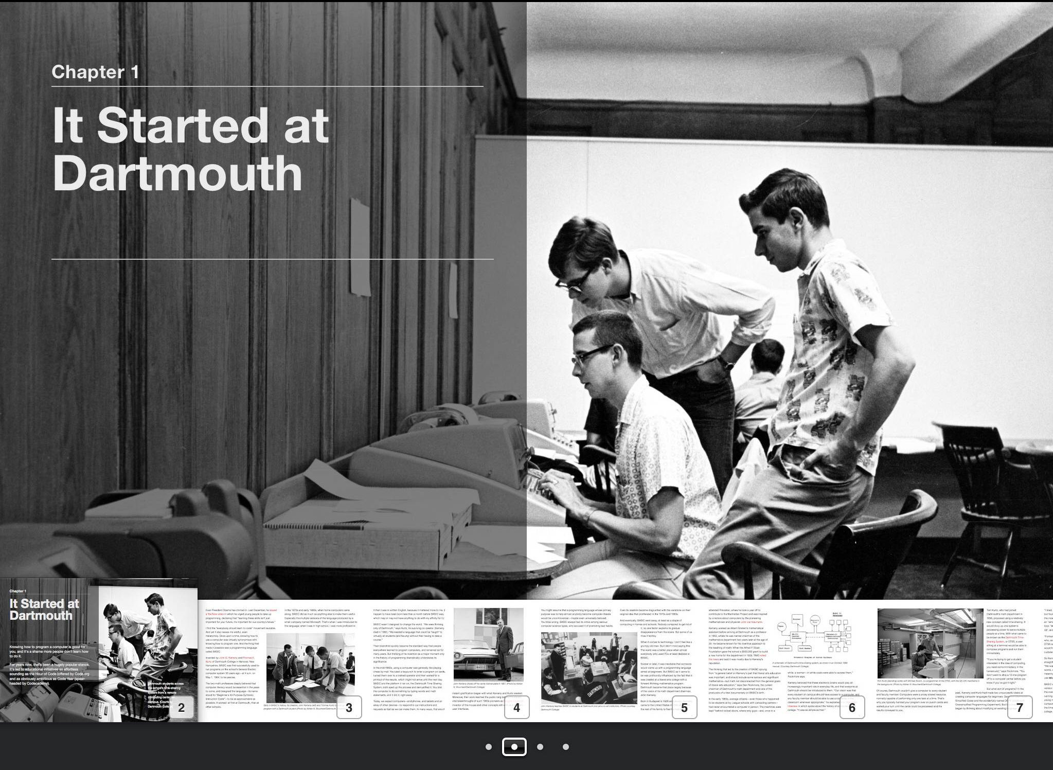 A spread from the book I created with iBooks Author