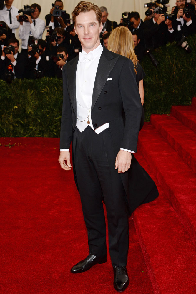 Benedict Cumberbatch attends The Metropolitan Museum of Art's Costume Institute benefit gala celebrating  Charles James: Beyond Fashion  on May 5, 2014, in New York City.