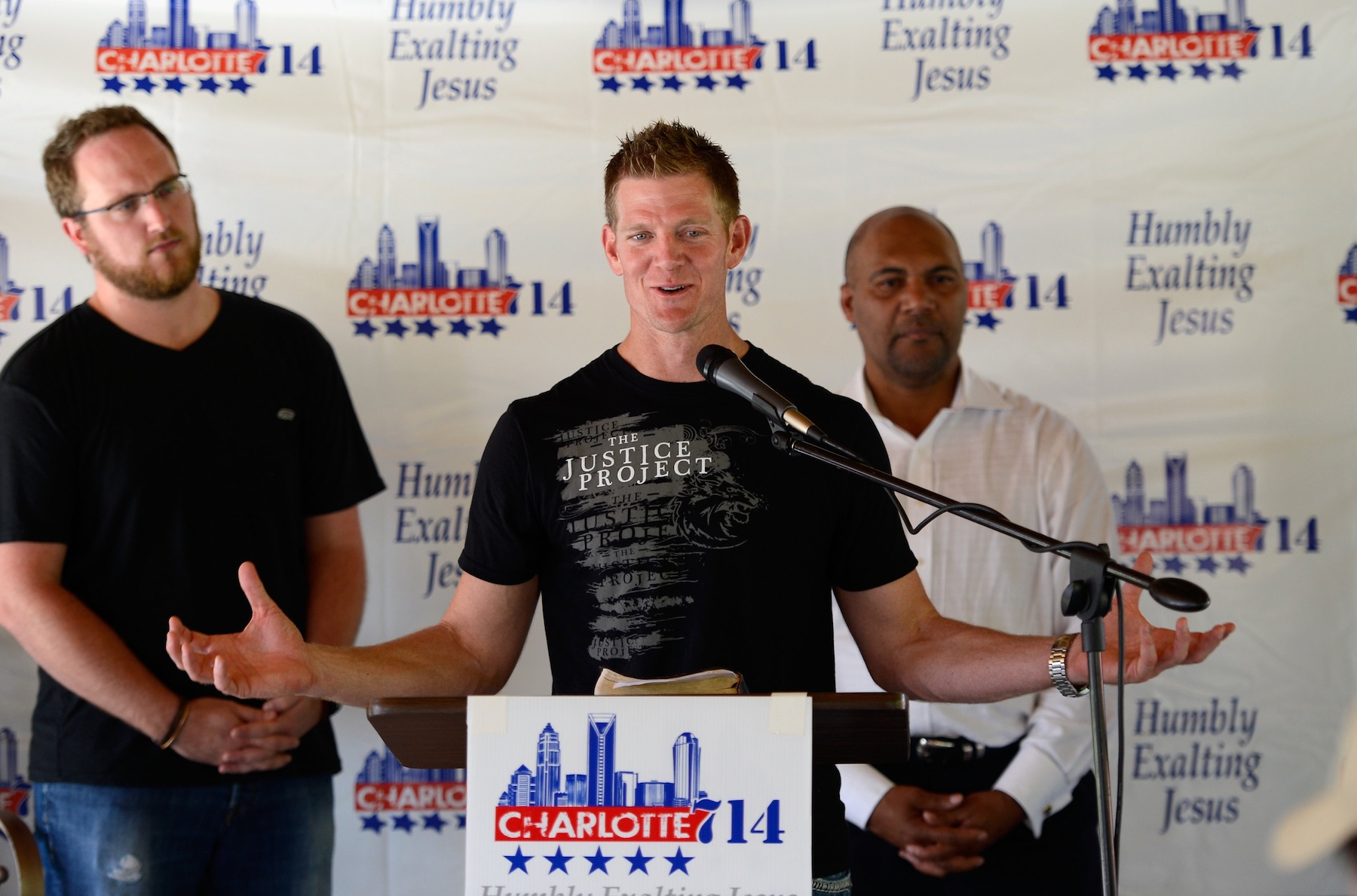 David Benham speaks during a news conference on Sept. 2, 2012 in Charlotte, North Carolina.