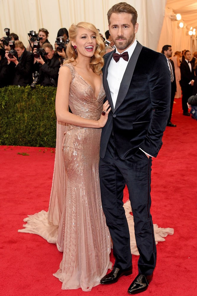 From left: Blake Lively and Ryan Reynolds attend The Metropolitan Museum of Art's Costume Institute benefit gala celebrating  Charles James: Beyond Fashion  on May 5, 2014, in New York City.
