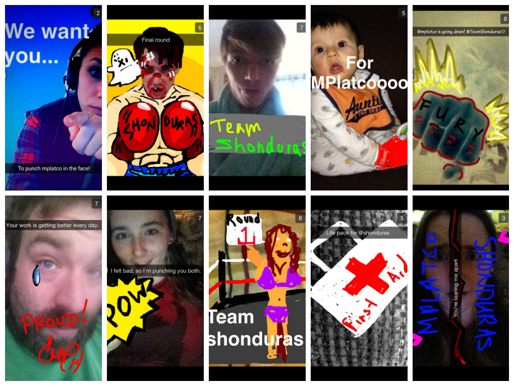 Followers sent Shonduras and Mplatco Snapchats to indicate who they wanted to win the boxing match.
