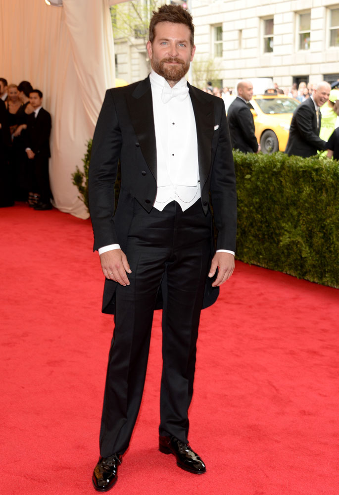 Bradley Cooper attends The Metropolitan Museum of Art's Costume Institute benefit gala celebrating  Charles James: Beyond Fashion  on May 5, 2014, in New York City.