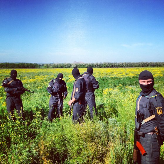 May 21, 2014. Members of the Donbass Battalion, a pro-Ukraine militia formed to curb pro-Russian separatists in the east of Ukraine.