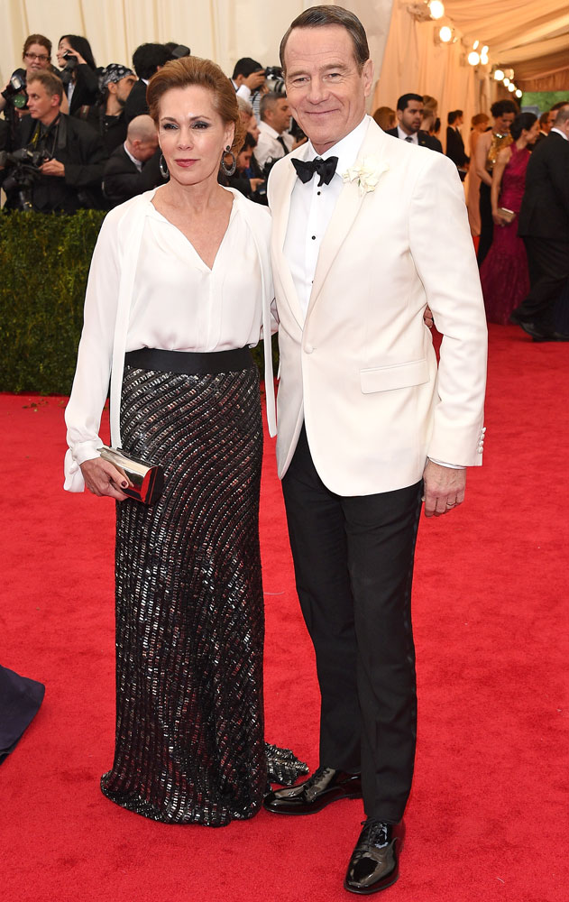 From left: Robin Dearden and Bryan Cranston attend The Metropolitan Museum of Art's Costume Institute benefit gala celebrating  Charles James: Beyond Fashion  on May 5, 2014, in New York City.