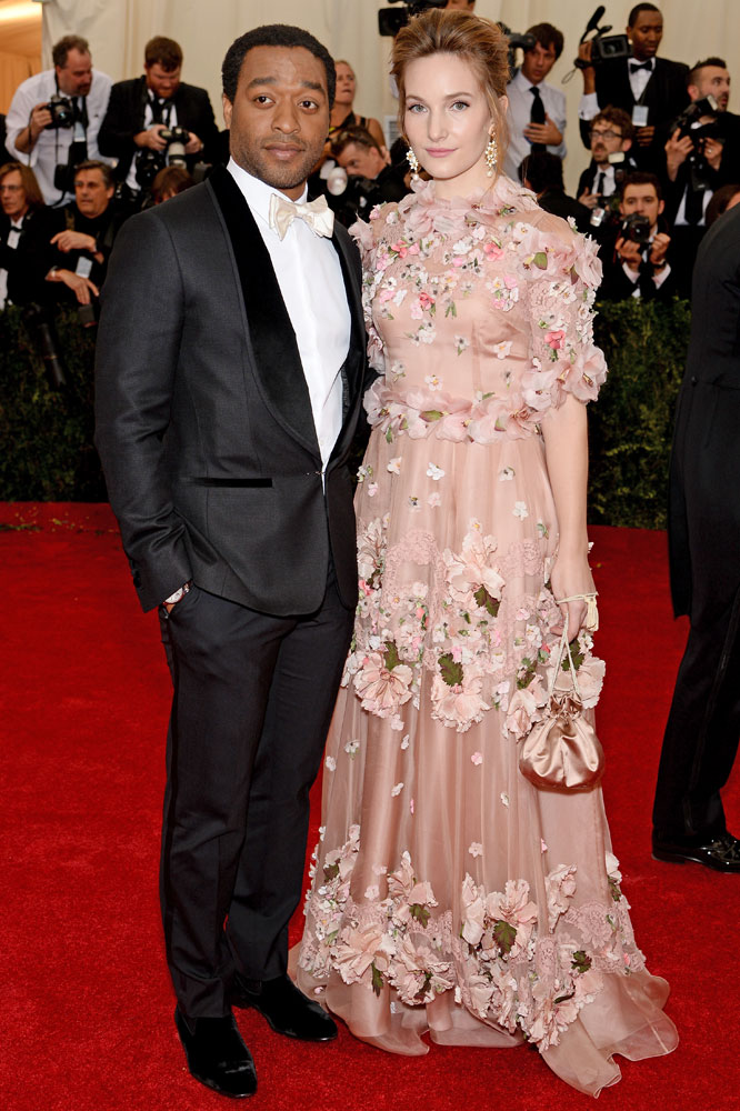 From left: Chiwetel Ejiofor and Sari Mercer attend the  Charles James: Beyond Fashion  Costume Institute Gala at the Metropolitan Museum of Art on May 5, 2014 in New York City.