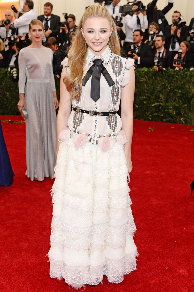 Chloe Grace Moretz attends The Metropolitan Museum of Art's Costume Institute benefit gala celebrating  Charles James: Beyond Fashion  on May 5, 2014, in New York City.