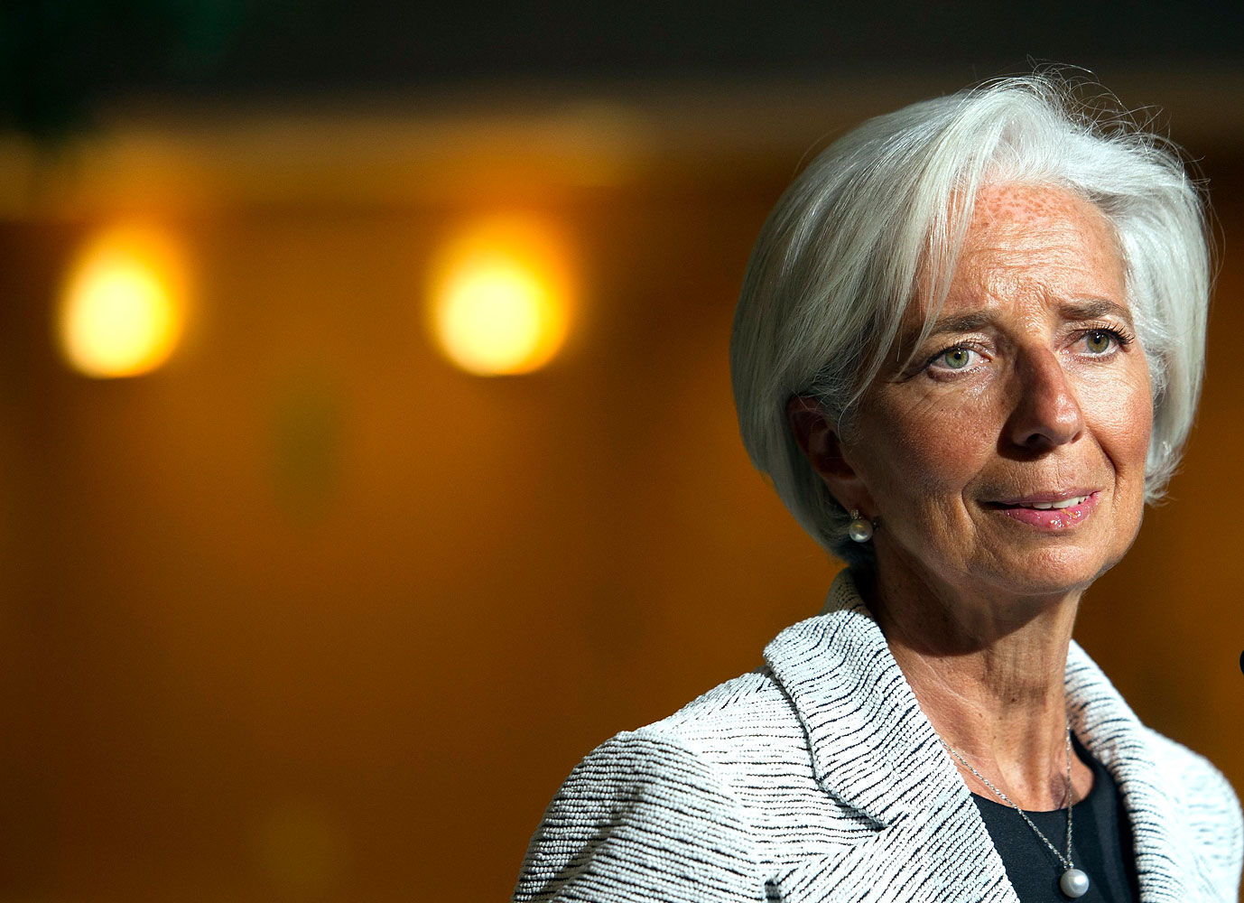 International Monetary Fund Managing Director Christine Lagarde at IMF Headquarters in Washington, April 30, 2014.