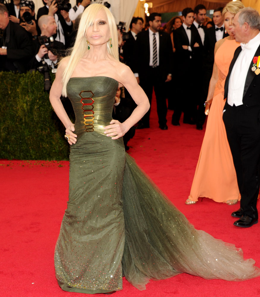 Donatella Versace attends The Metropolitan Museum of Art's Costume Institute benefit gala celebrating  Charles James: Beyond Fashion  on May 5, 2014, in New York City.