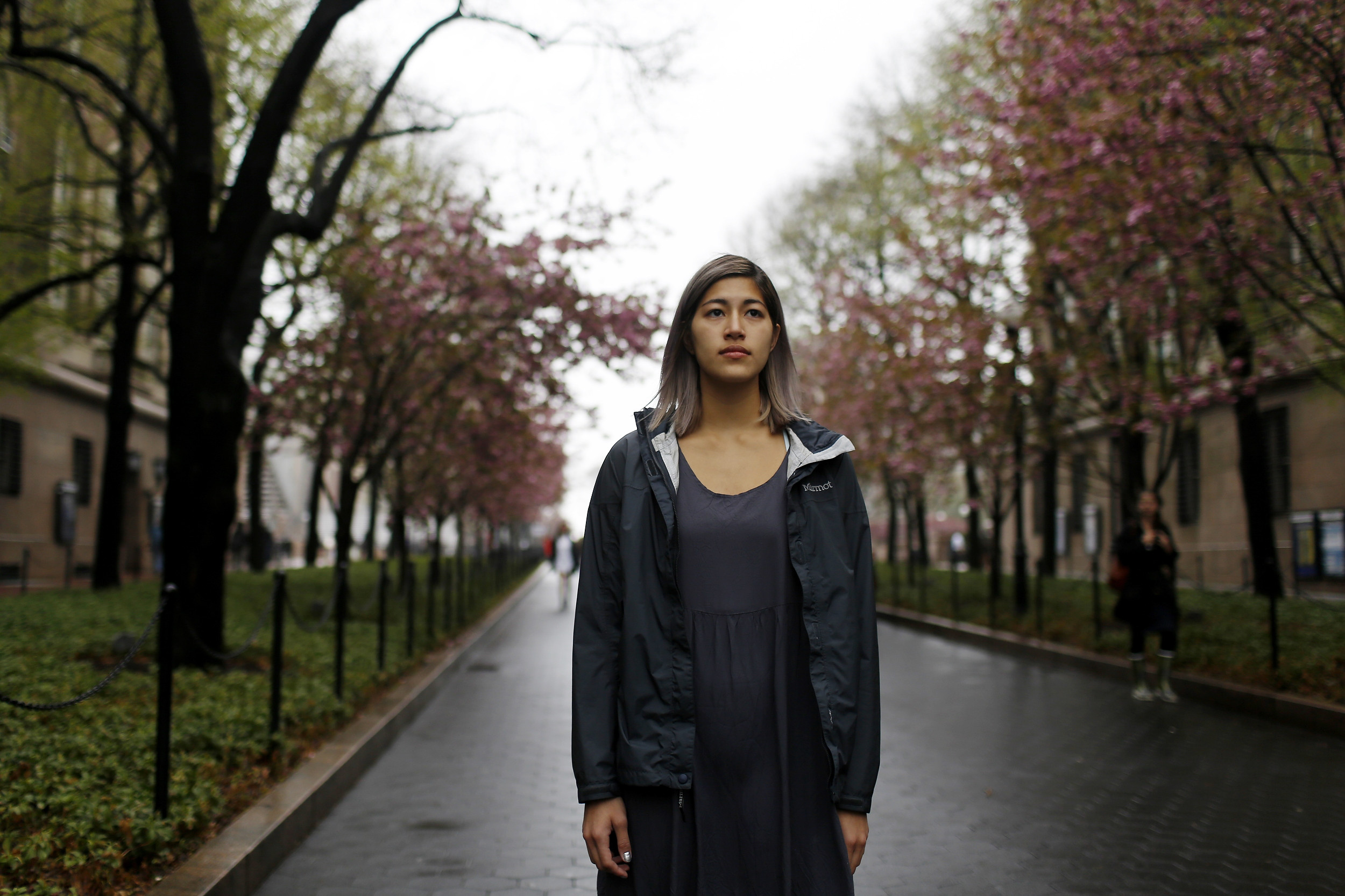 Emma Sulkowicz at Columbia University in New York City, on May 1, 2014.