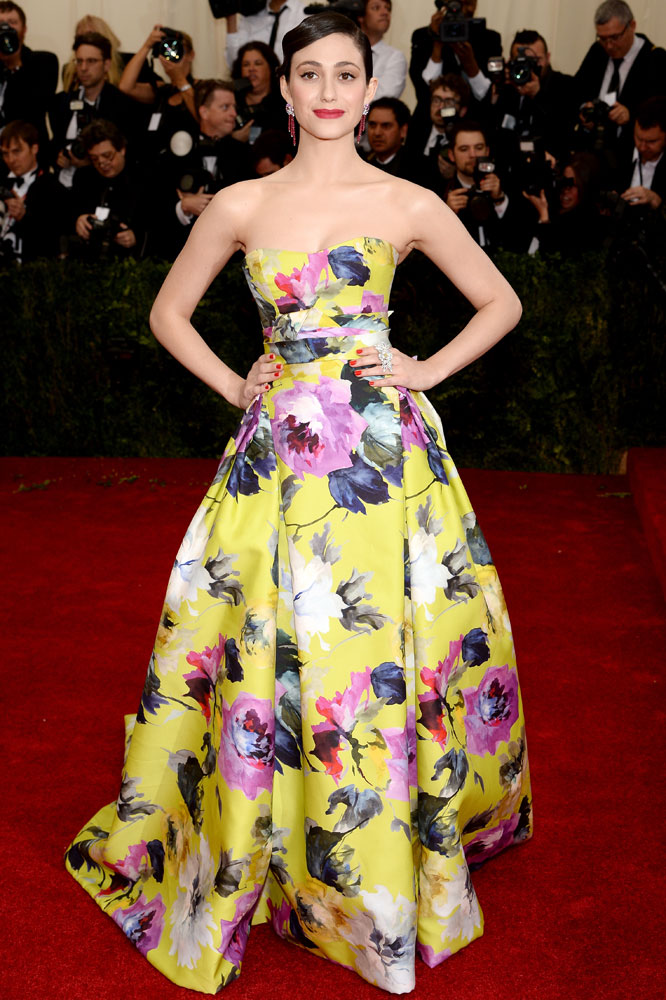 Emmy Rossum attends the  Charles James: Beyond Fashion  Costume Institute Gala at the Metropolitan Museum of Art on May 5, 2014 in New York City.