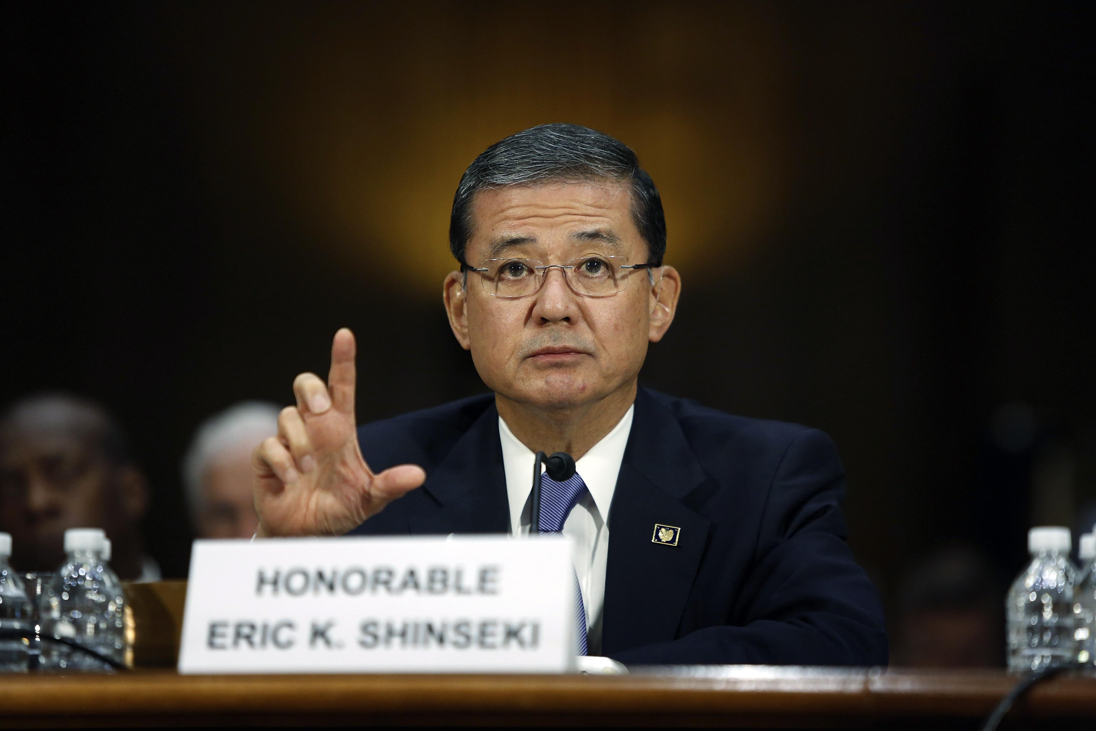 U.S. Department of Veterans Affairs Secretary Eric Shinseki testifies before a Senate Veterans Affairs Committee hearing on VA health care, on Capitol Hill in Washington, D.C., on May 15, 2014.