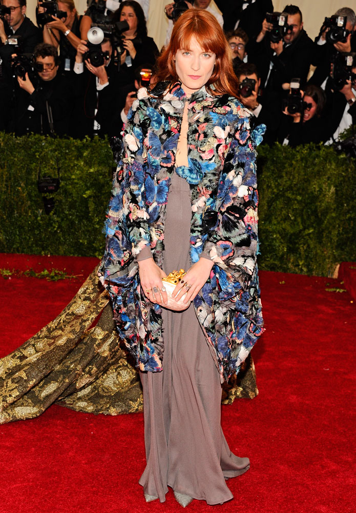 Florence Welch attends The Metropolitan Museum of Art's Costume Institute benefit gala celebrating  Charles James: Beyond Fashion  on May 5, 2014, in New York City.