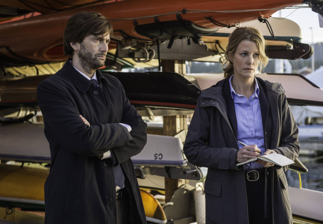 David Tennant and Anna Gunn in the 10-episode  event series  Gracepoint, based on the British Broadchurch.