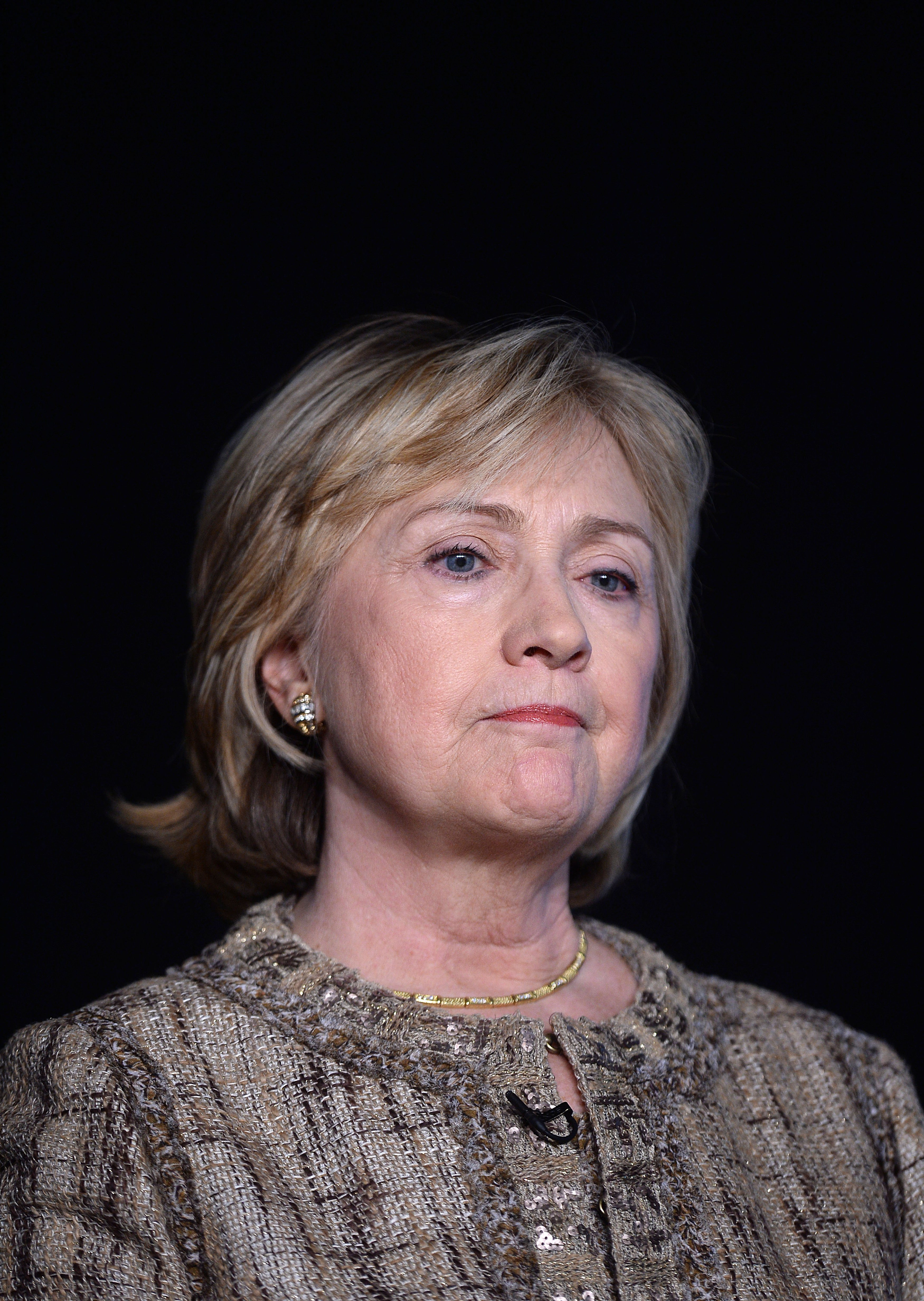 Former Secretary of State Hillary Clinton speaks at the New America Foundation (NAF) conference at the Newseum on May 16, 2014 in Washington.