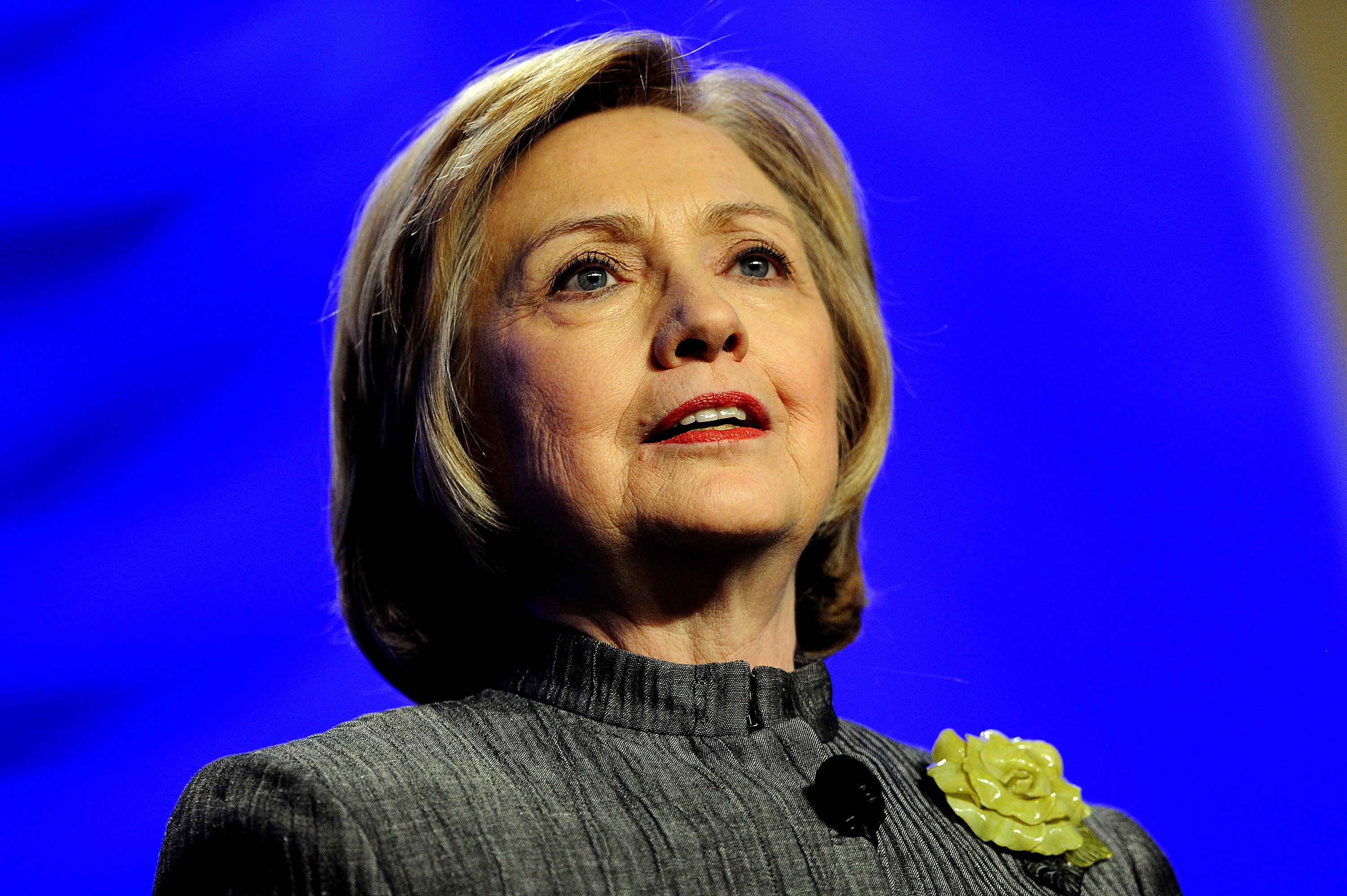 Former Secretary of State Hillary Rodham Clinton delivers remarks during the National Council for Behavioral Health's Annual Conference at the Gaylord National Resort & Convention Center in National Harbor, Md. on May 6, 2014.