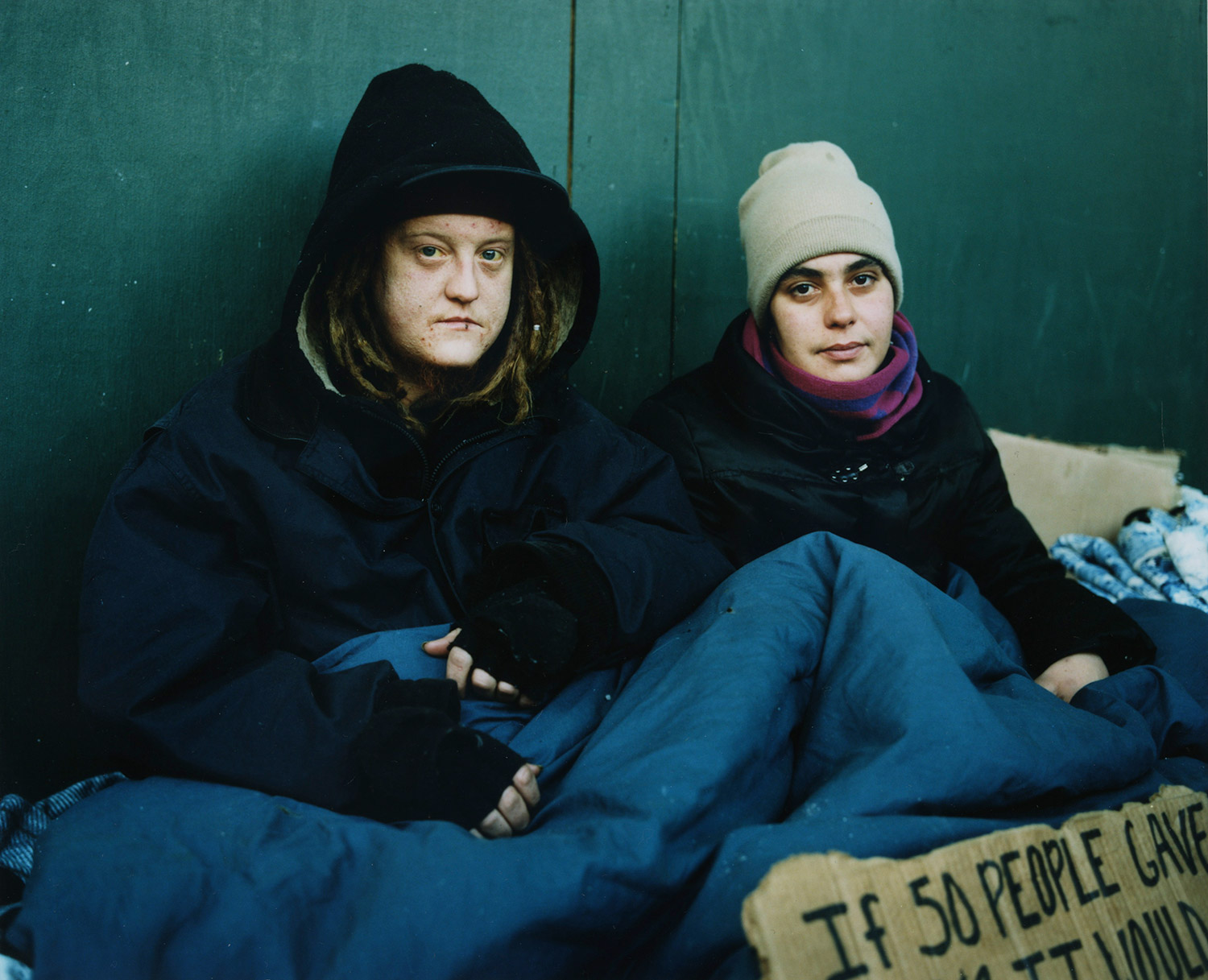 Shelly Corncetta McMahon and Ryan McMahon, from Andres Serrano's Residents of New York project
