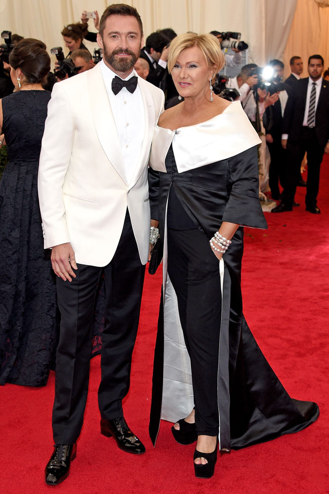 From left: Hugh Jackman and Deborra-Lee Furness attend The Metropolitan Museum of Art's Costume Institute benefit gala celebrating  Charles James: Beyond Fashion  on May 5, 2014, in New York City.