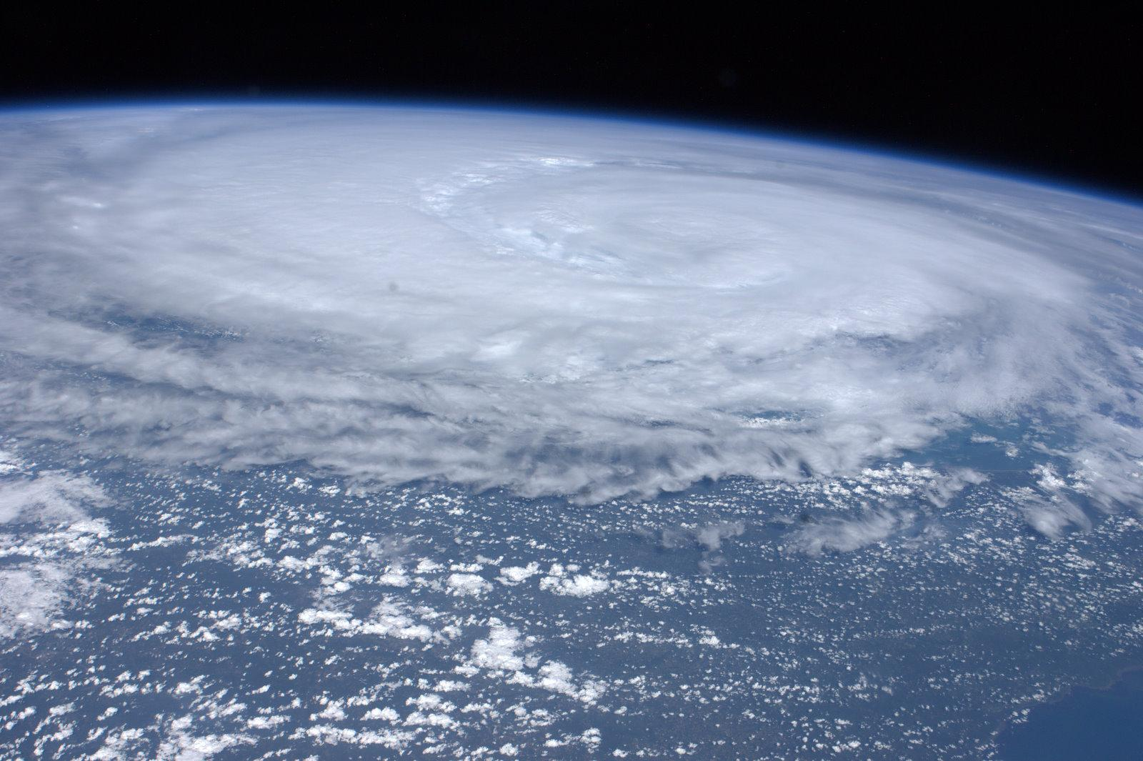 Hurricane Irene is seen from space from the International Space Station, as it churns off the east coast of the United States on August 26, 2011