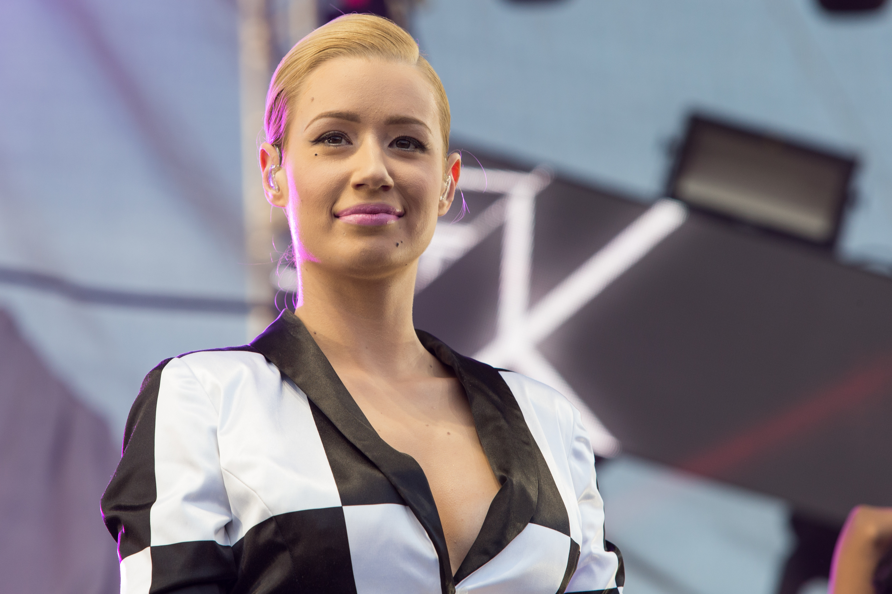 Iggy Azalea performs on stage at 102.7 KIIS FM's Wango Tango at the StubHub Center on May 10, 2014, in Carson, Calif.