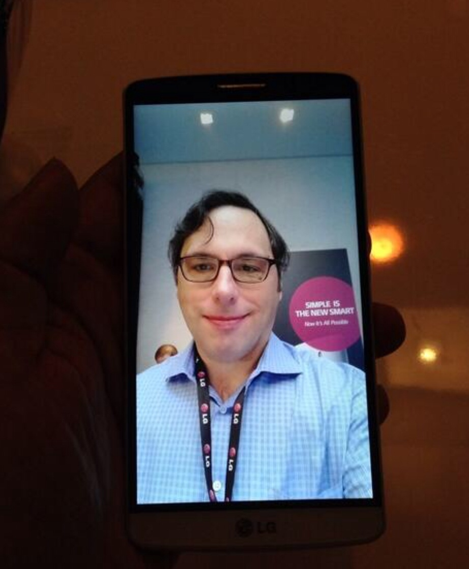 A selfie I snapped of myself at LG's G3 launch event