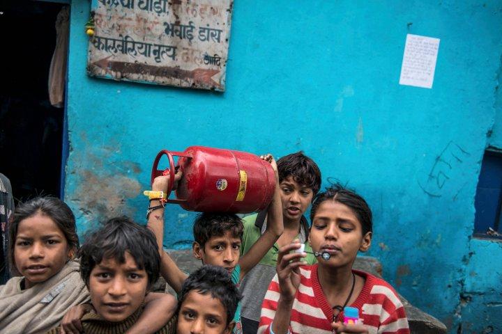 Poverty of slums at New Delhi