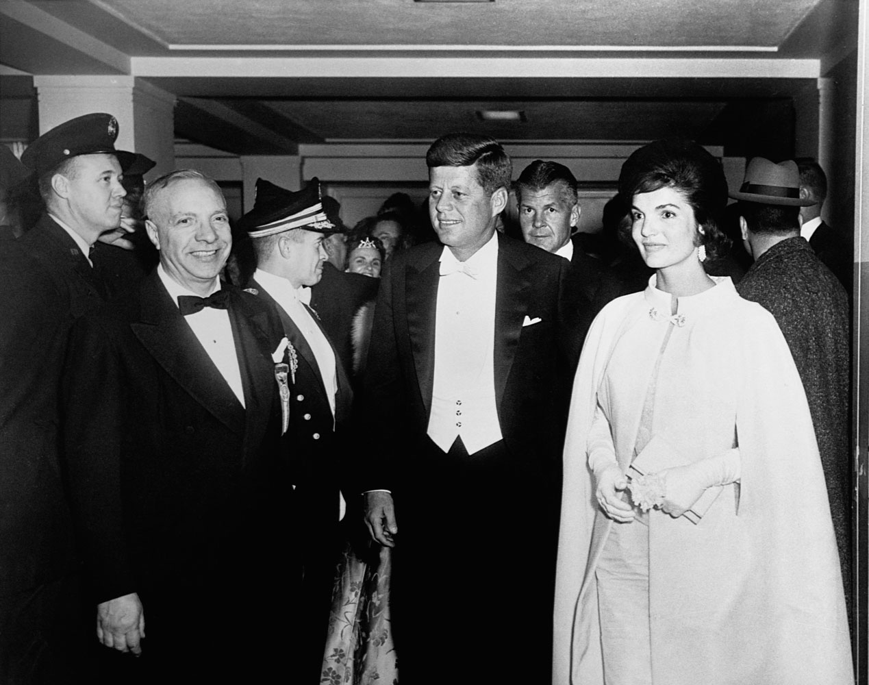U.S. President John F. Kennedy and First Lady Jackie Kennedy at the Inaugural Ball on Jan. 20, 1961 in Washington, D.C.