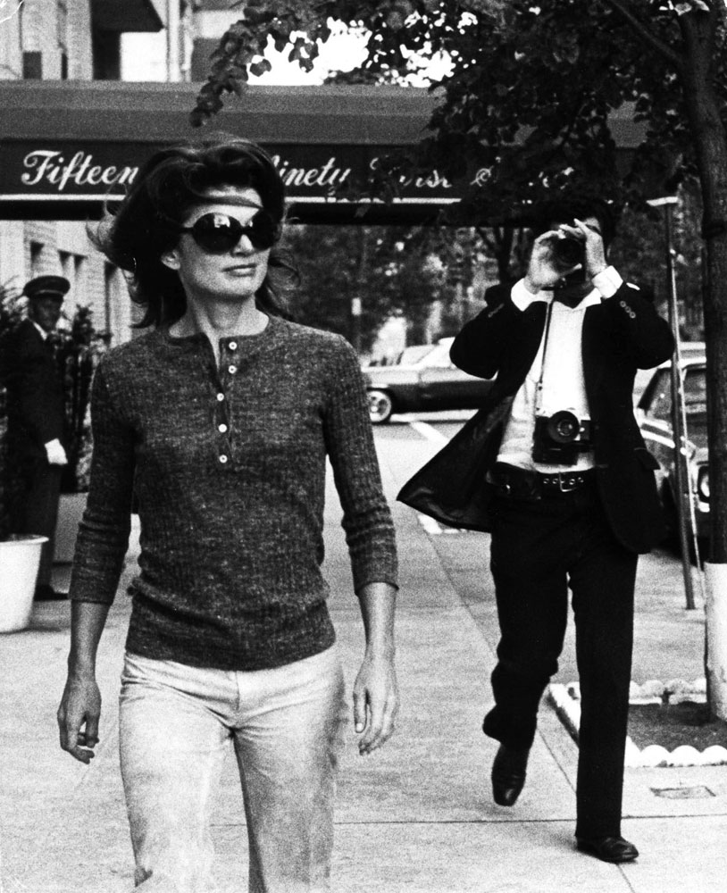 Jackie Onassis on the streets of New York City on Oct. 7, 1971.