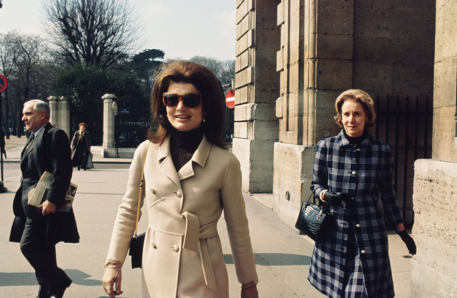 Jackie Kennedy visits Paris c. the late-1960s.