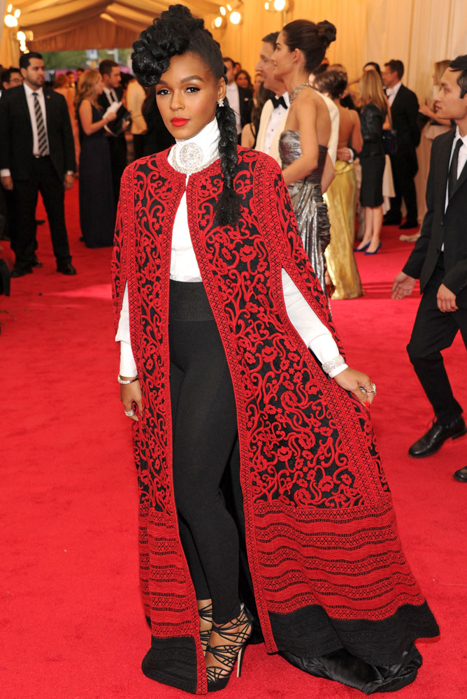 Janelle Monae attends The Metropolitan Museum of Art's Costume Institute benefit gala celebrating  Charles James: Beyond Fashion  on May 5, 2014, in New York City.