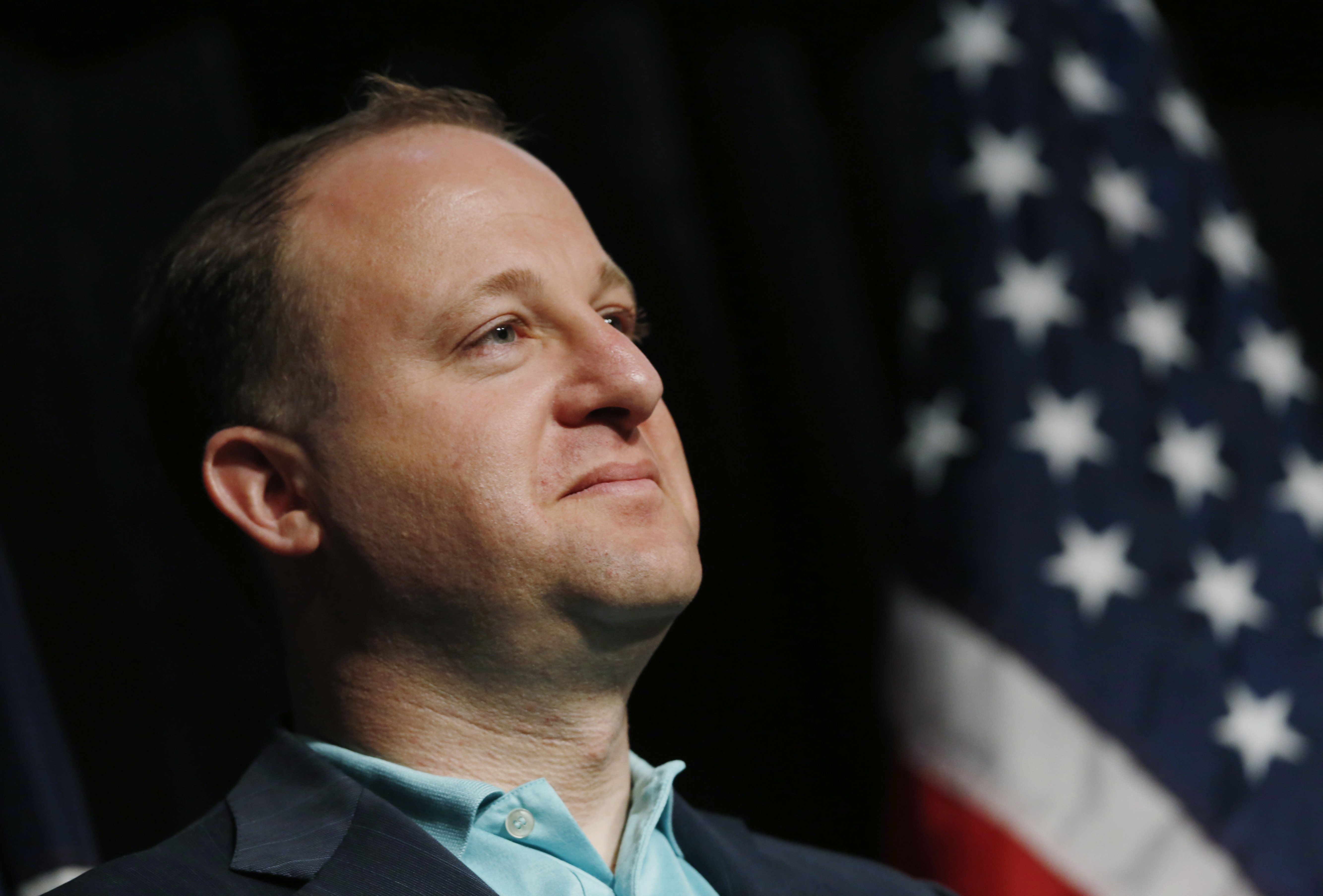 Rep. Jared Polis, D-Colo., looks on during the Colorado Democratic Party's State Assembly in Denver on April 12, 2014