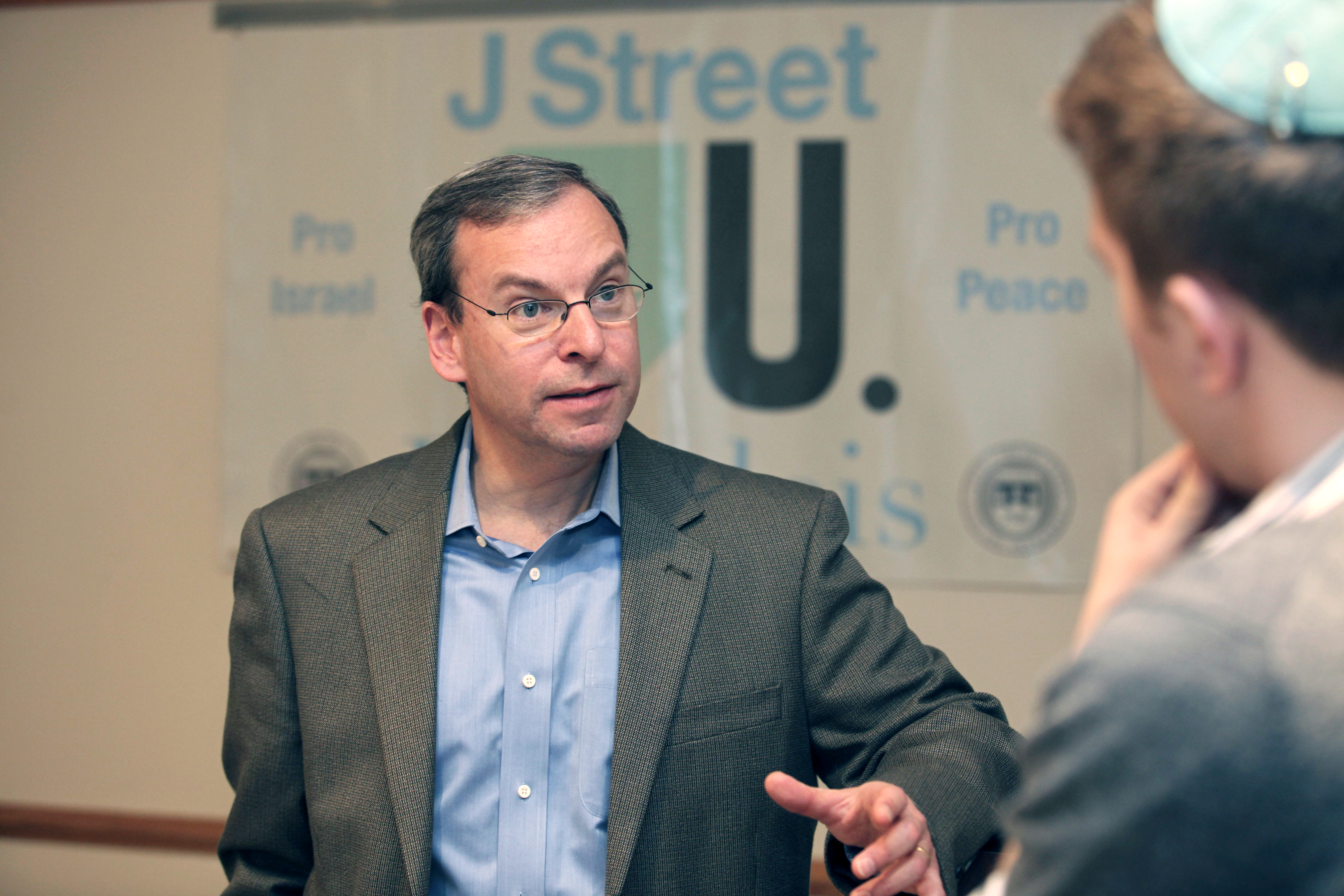 J Street founder and executive director Jeremy Ben-Ami speaks to Brandeis University students on  Feb. 25, 2010.