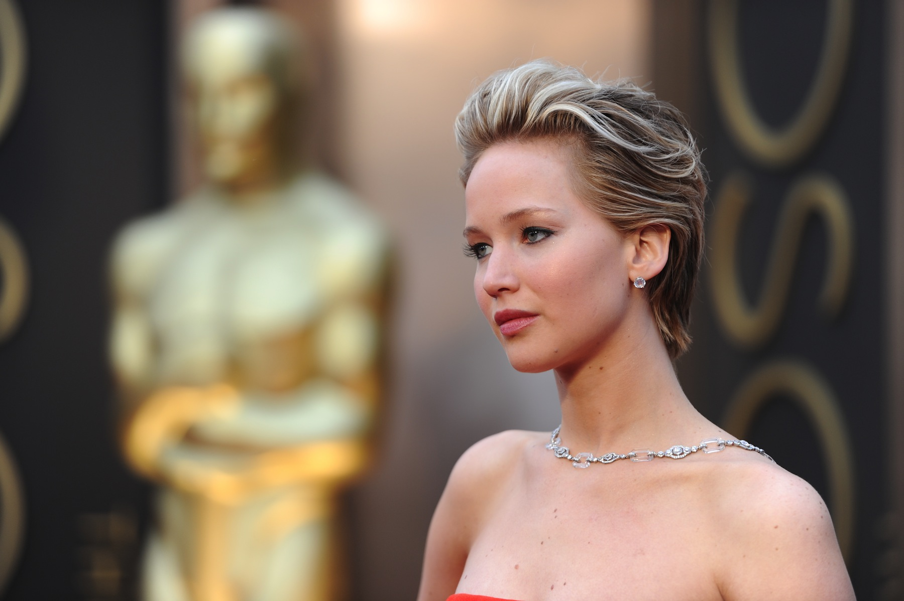 Jennifer Lawrence at the Oscars on March 2, 2014 in Hollywood, Calif.