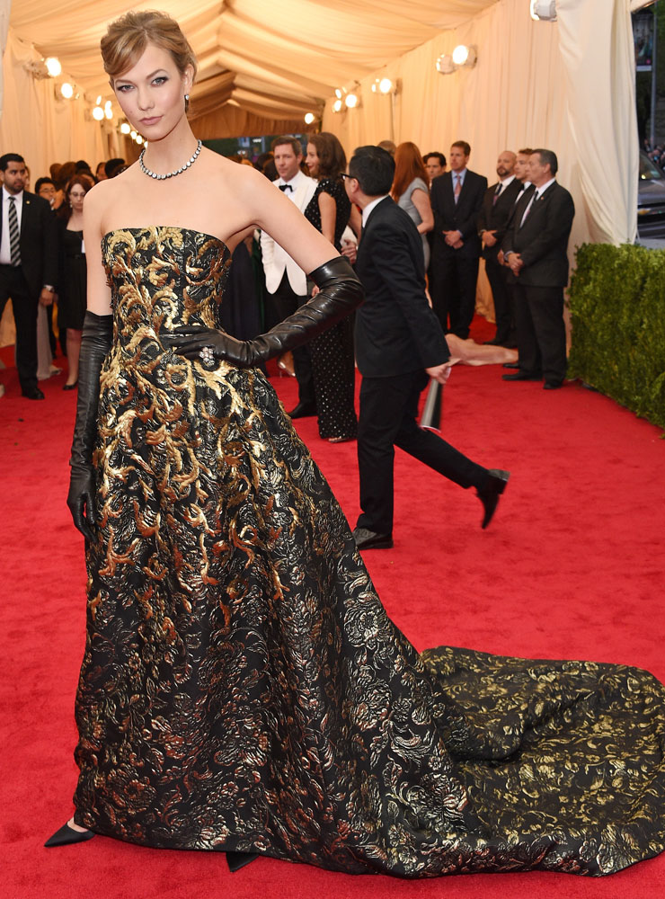 Karlie Kloss attends The Metropolitan Museum of Art's Costume Institute benefit gala celebrating  Charles James: Beyond Fashion  on May 5, 2014, in New York City.