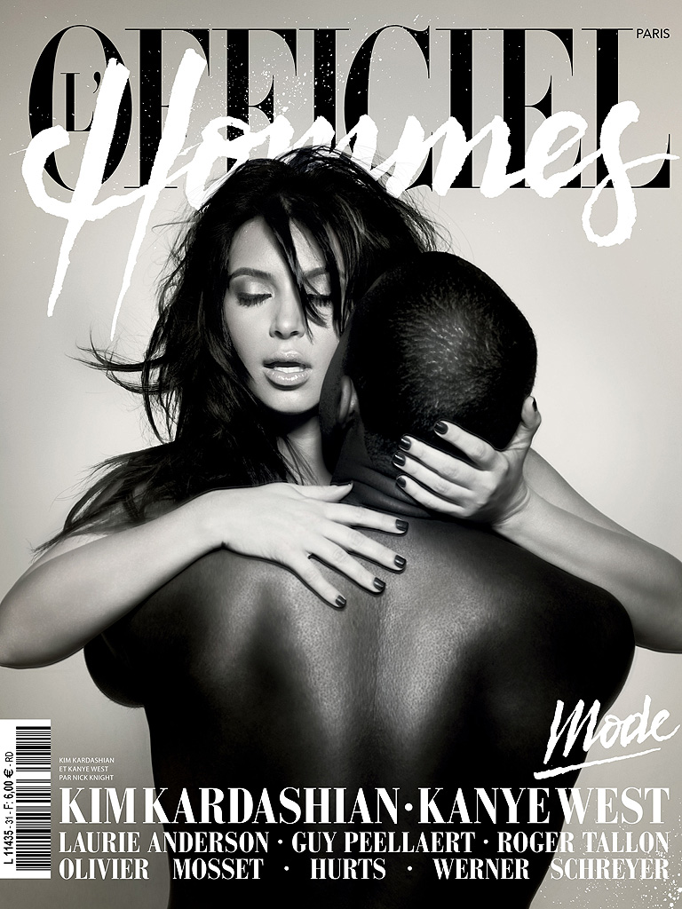 Kanye announced that Kim was pregnant at a December 2012 concert. That probably helped secure the Feb. 2013 cover of <i>L'Officiel Hommes</i>.