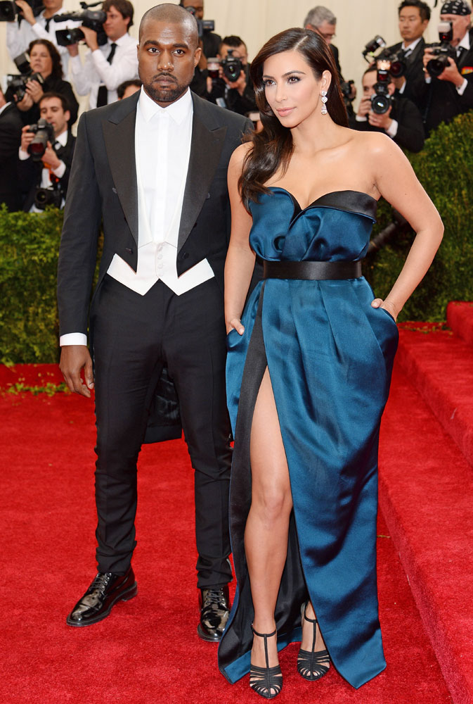 From left: Kanye West and Kim Kardashian attend The Metropolitan Museum of Art's Costume Institute benefit gala celebrating  Charles James: Beyond Fashion  on May 5, 2014, in New York City.