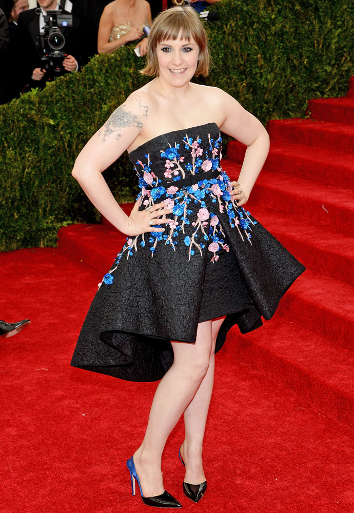 Lena Dunham attends The Metropolitan Museum of Art's Costume Institute benefit gala celebrating  Charles James: Beyond Fashion  on May 5, 2014, in New York City.