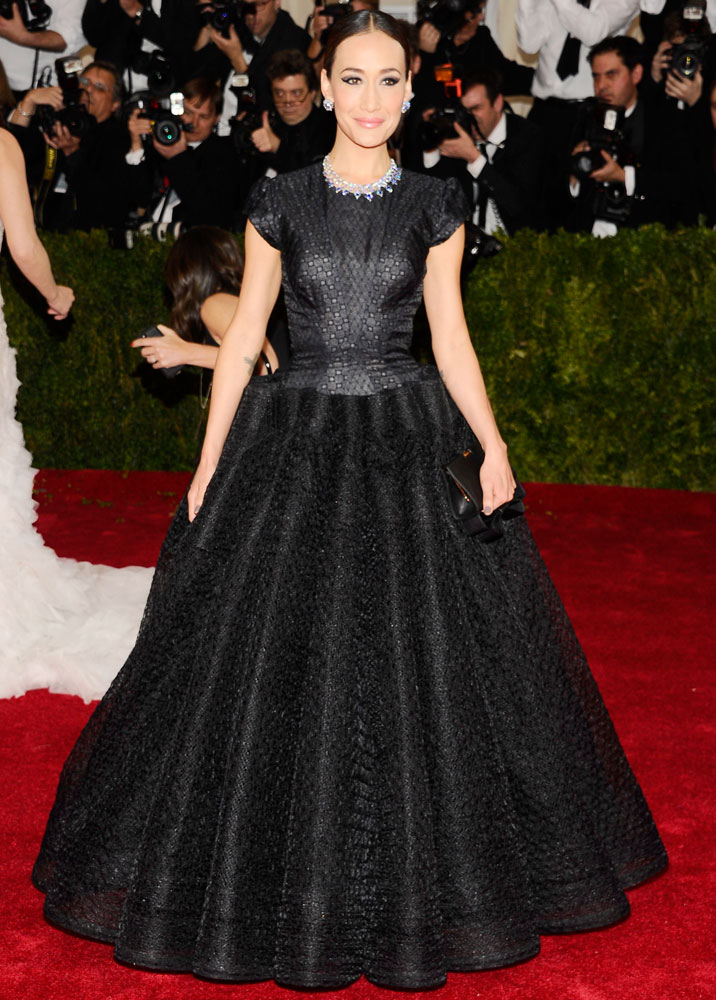 Maggie Q attends The Metropolitan Museum of Art's Costume Institute benefit gala celebrating  Charles James: Beyond Fashion  on May 5, 2014, in New York City.