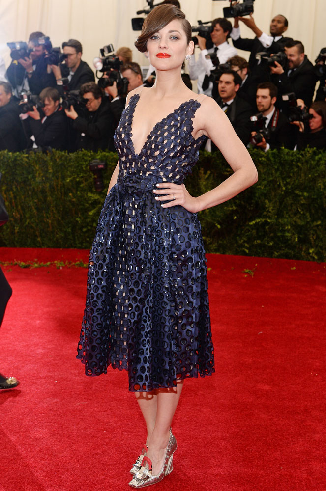 Marion Cotillard attends The Metropolitan Museum of Art's Costume Institute benefit gala celebrating  Charles James: Beyond Fashion  on May 5, 2014, in New York City.